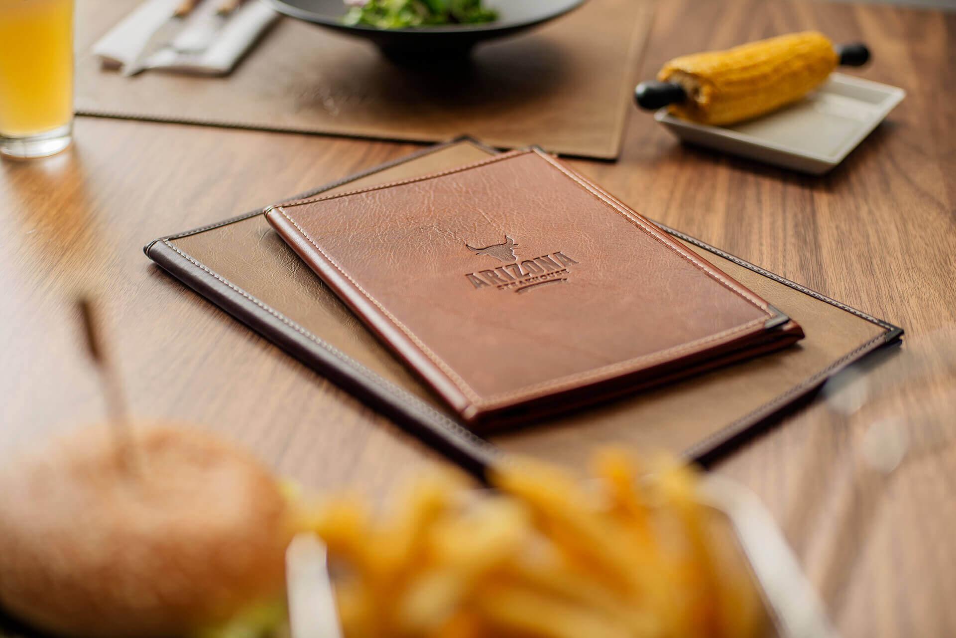 American Style Speisekarten aus der Steakhouse Kollektion