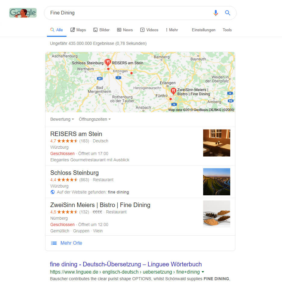 Local SEO für Restaurants