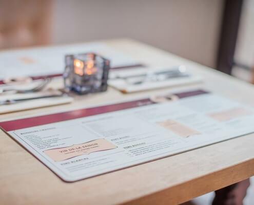 Tischsets und Schreibtischunterlagen