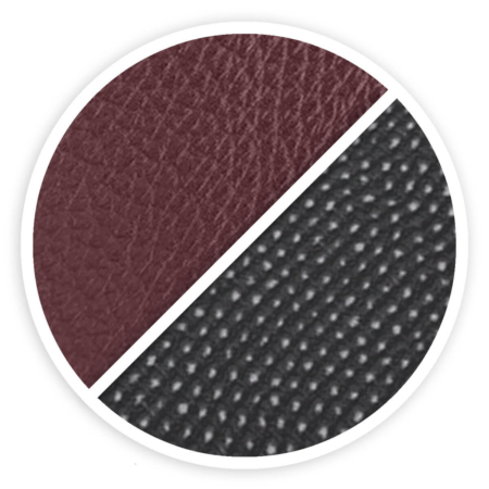 Leather-Metallium (bordeaux/black)