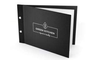 Speisekarten in Leder online bestellen mit eigenem Logo