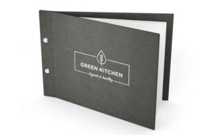 Speisekarten mit eigenem Logo online kaufen - Colormenus in Naturleinen
