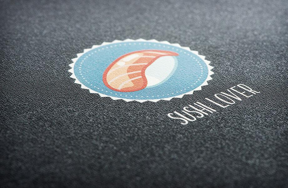 Speisekarten Logoveredelung