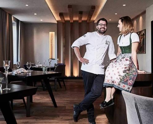 Andi Widmann und Anna Widmann im Restaurant ursprung